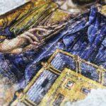 Επιγονάτιο μεταξοτυπίας «Ιησούς Χριστός» σε ψηφιδωτή μορφή