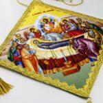 Επιγονάτιο μεταξοτυπίας «Κοίμηση της Θεοτόκου»